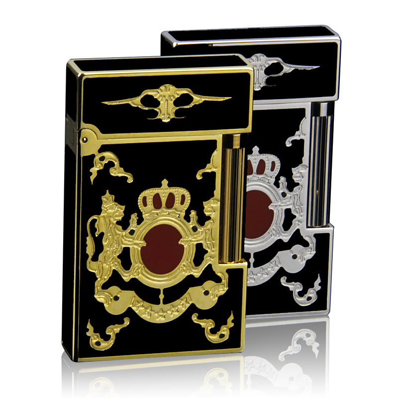 Free shipping genuine original dufan vatican broke lighters creative personality thin copper version of the crown 018
