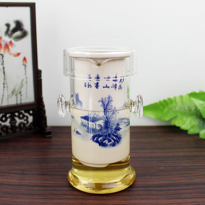 Free shipping high boron glass tea binaural glass + liner liner porcelain teapot tea strainer tea cup teapot