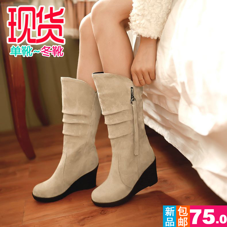 71de15e48327 Get Quotations · Free shipping hot spring and autumn single shoes korean  cute girls plus wool winter boots soft