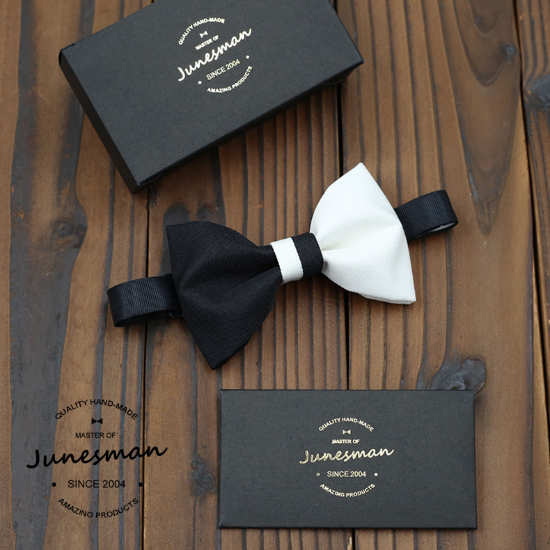 Free shipping in June man handmade custom models hit the color black and white bow tie groom groomsmen wedding banquet
