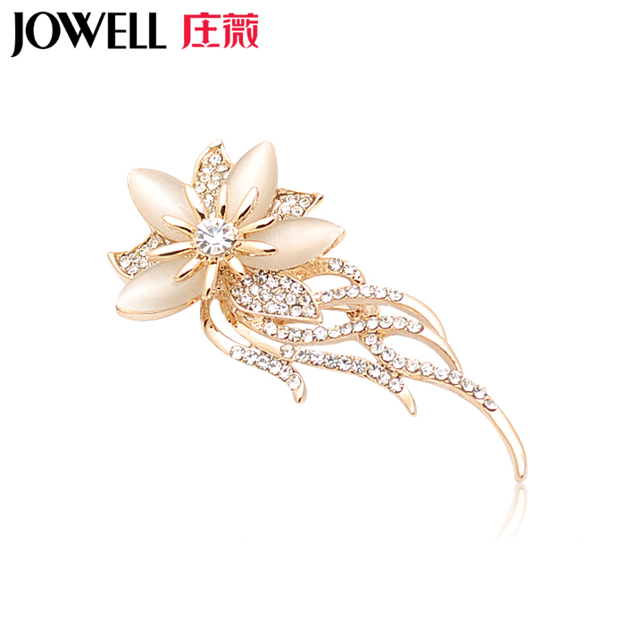 Free shipping jewelry accessories female suit new fashion alloy diamond flower brooch pin brooch korean version 728