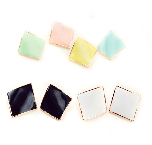 Free shipping korean jewelry multicolor diamond without pierced ear clip screw without pierced ear clip earrings female jewelry 0157