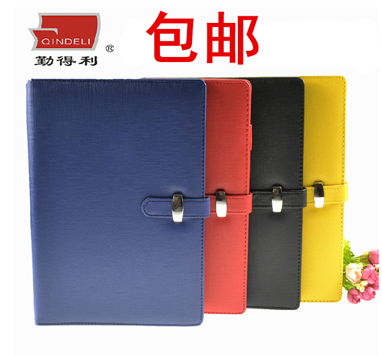 Free shipping leather generic business notebook a5 notepad upscale binder binder this custom logo