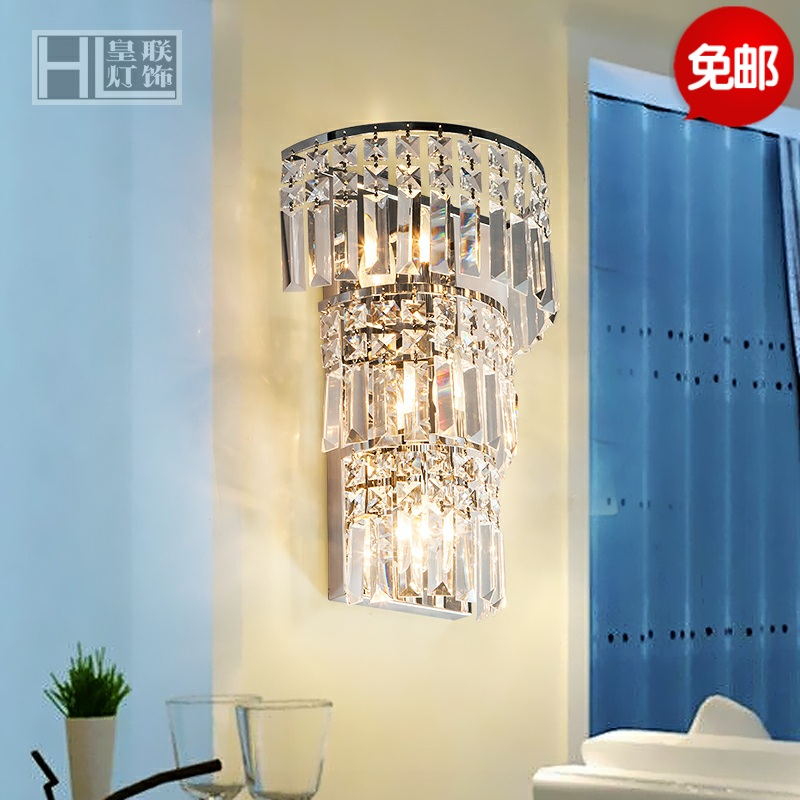 Free shipping living room bedroom wall lamp led wall lamp wall lamp creative minimalist bedroom bedside lamp wall lamp hotel crystal wall