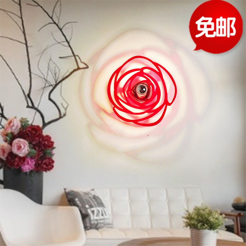 Free shipping modern minimalist creative shadow wall lamp living room hallway ceiling lamp wall lamp decorative fashion personality and creative lighting