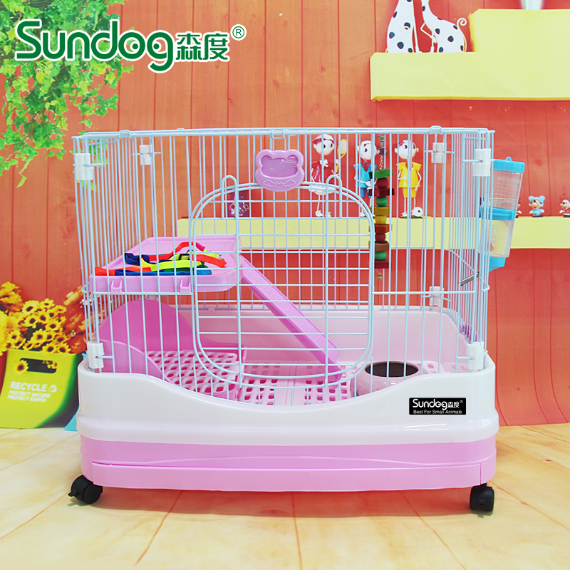Free shipping mori king deluxe double chinchilla rabbit cage rabbit cage rabbit cage rabbit cage netherlands guinea pig cage cage supplies
