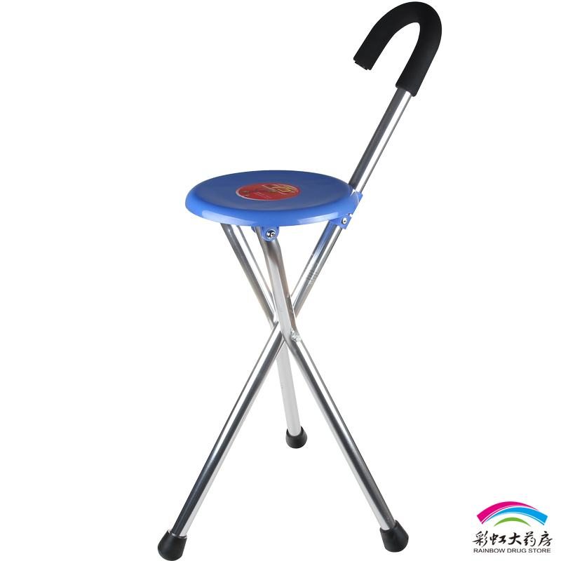 Free shipping multifunctional diving yu871 tripod cane crutch crutches elderly/aluminum walker cane stool