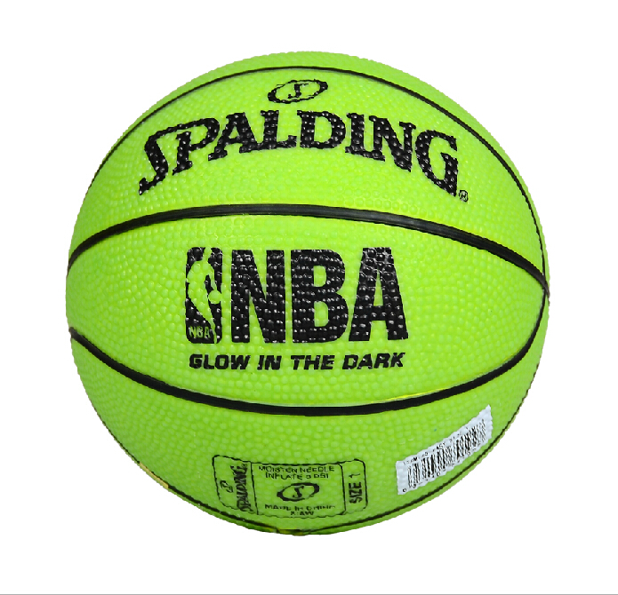 Free shipping send pump spalding spalding basketball luminous rubber children's mini toy 65-84 no. 1
