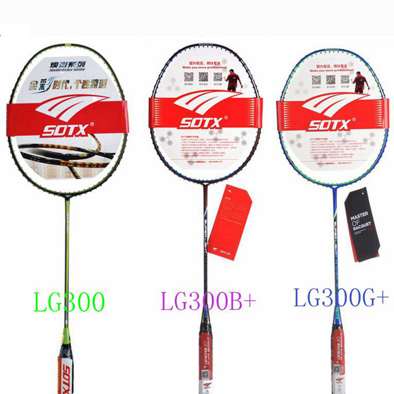 Free shipping sotx/suodeshisuo brand badminton racket badminton racket ultralight 5u offensive and defensive LG300 offensive and defensive badminton racket badminton racket single shot