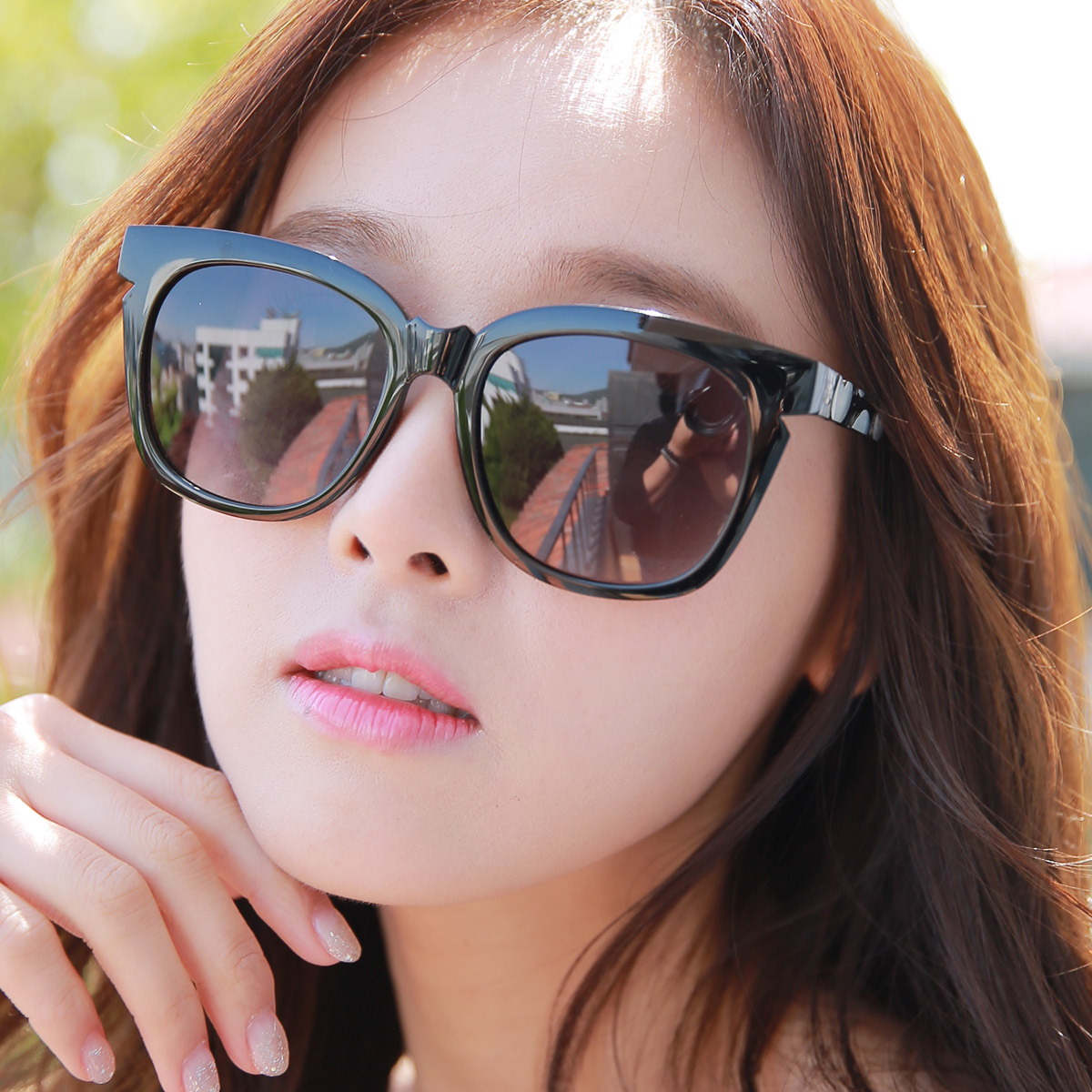 Free shipping sunglasses female ultralight sunglasses yurt can be equipped with myopia sunglasses polarized sunglasses female influx of western style retro