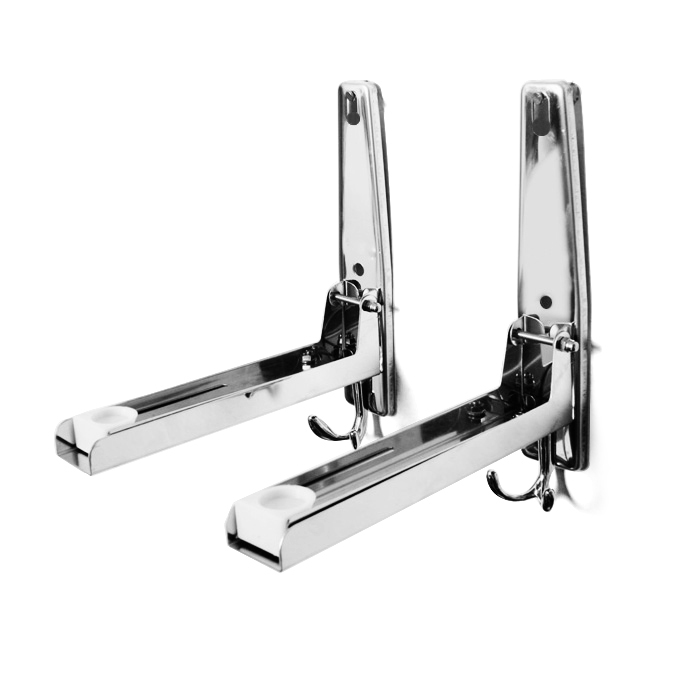 Free shipping thick 304 stainless steel microwave oven rack bracket retractable folding rear rack wall bracket