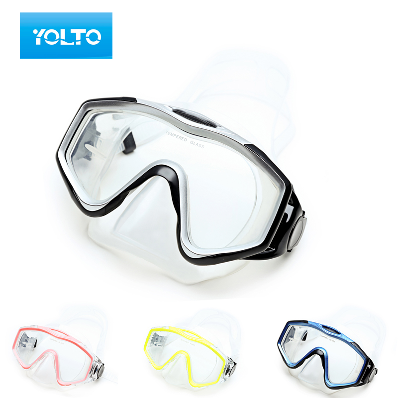 Free shipping yolto mirror box to send adult male and female children swimming goggles diving mask snorkeling goggles mirror