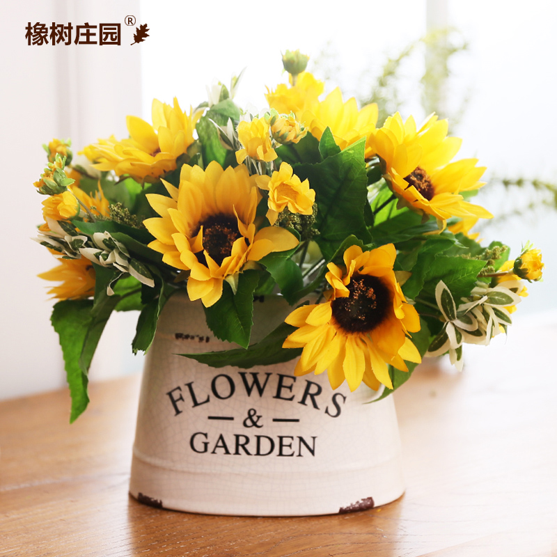 Get Quotations French Country To Do The Old Sun Sunflower Living Room Table Vase Ornaments Home Decor Furnishings