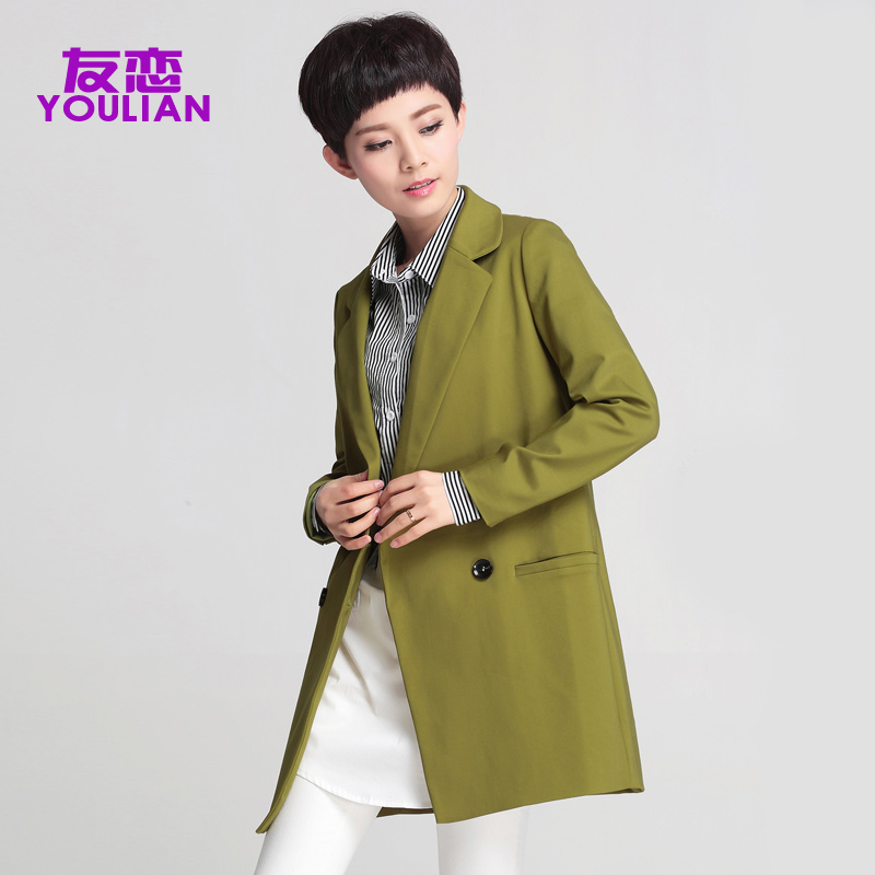 Friends of love spring middle-aged woman mother dress loose big yards long section of double-breasted coat jacket suit
