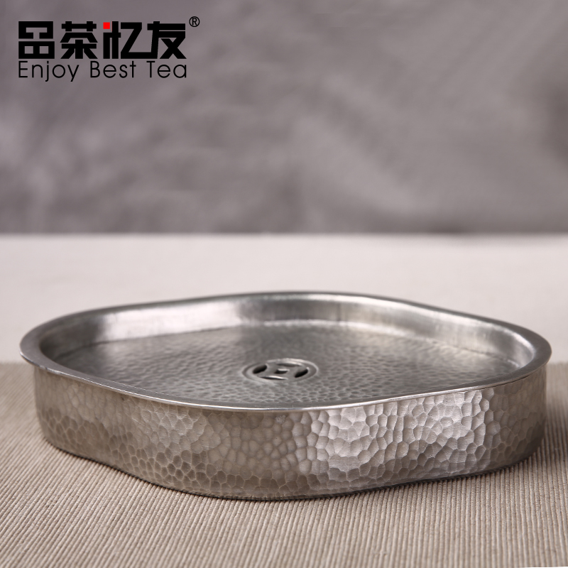 Friends recalled tea clouds shaped pot bearing handmade tin tin crafts dry foam tray tea tray filled with water pot prop