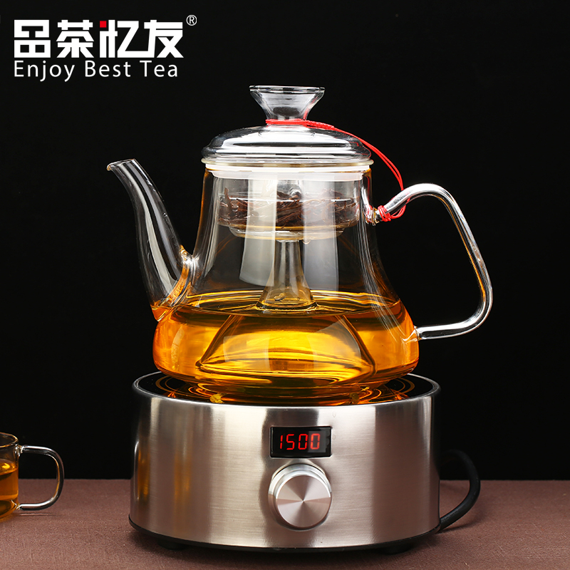 Friends recalled tea cup thick pyrex glass teapot boiling tea kettle electric ceramic stove to cook steamed black tea pu'er tea pot