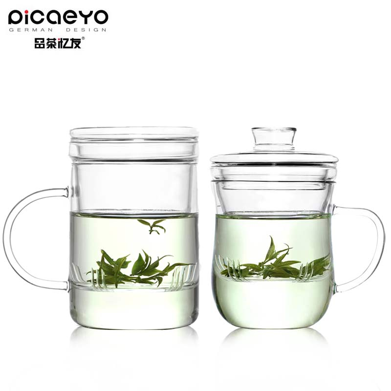 Friends recalled tea glass lovers cup for cup with lid couple cups cup cup creative suite transparent glass cup