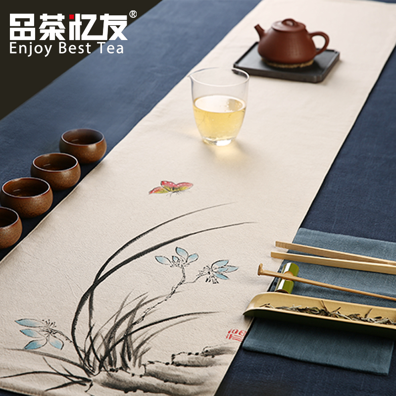 Friends recalled tea tea cloth seats zen chinese classical curtain tea large tea towel tea cloth tea tea accessories