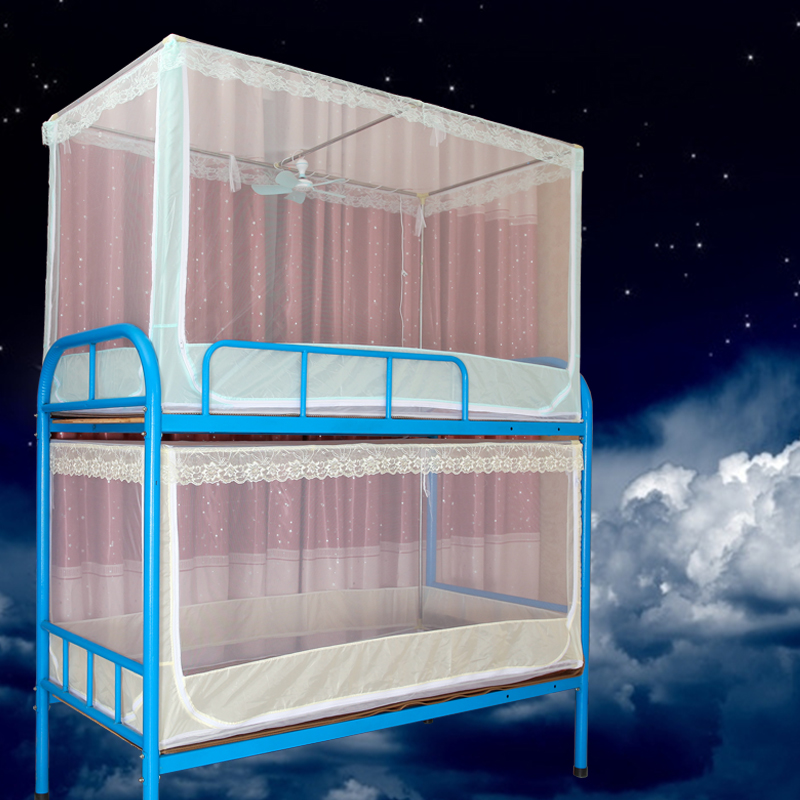 Fu li zi college dormitory dormitory with bunk bed nets full bottom stainless steel nets encryption beds Mosquito nets