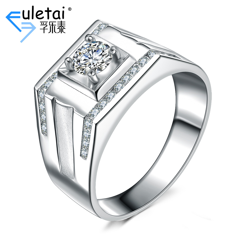 Fu loctite k white gold diamond ring custom men's luxury diamond ring nanjie bare customized care