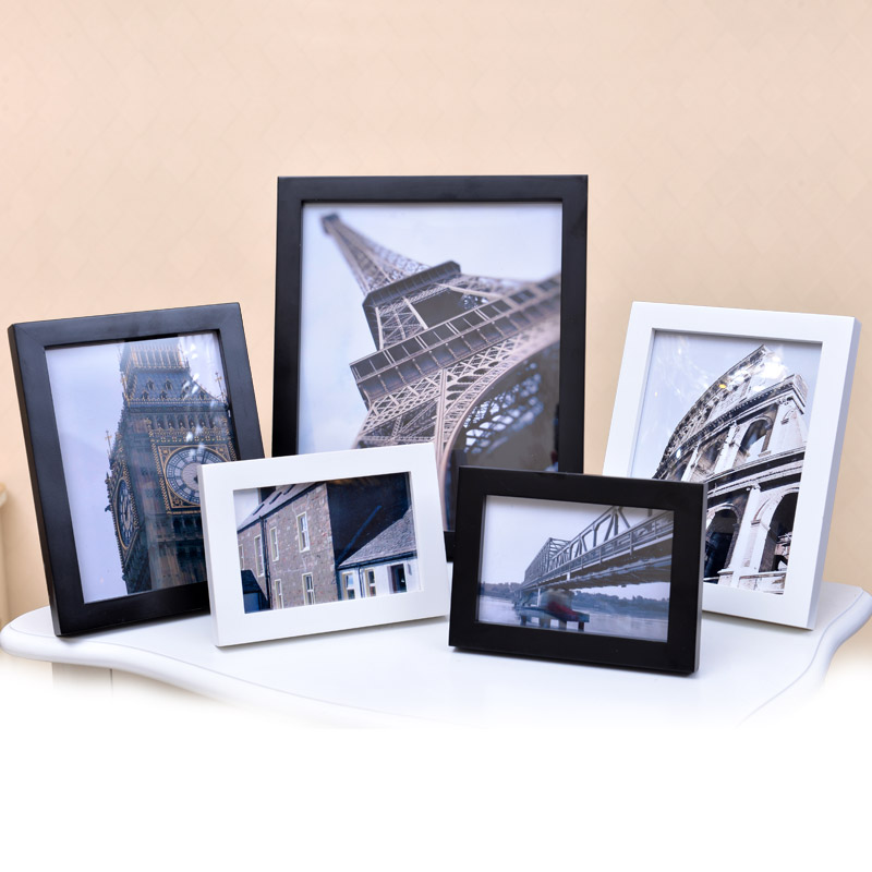 Full wyatt wood photo frame wall swing sets creative photo frame 7 5 6 10 16 20 a4 inch frame 6-inch photo frame photo frame puzzle box
