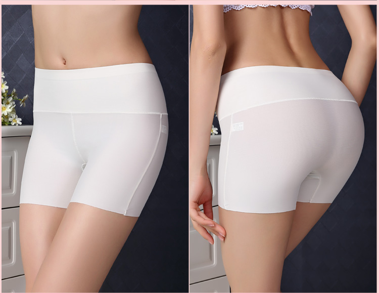 Fun 8 color anti emptied seamless ice silk ms. boxer close lower abdomen female underwear safety pants leggings summer