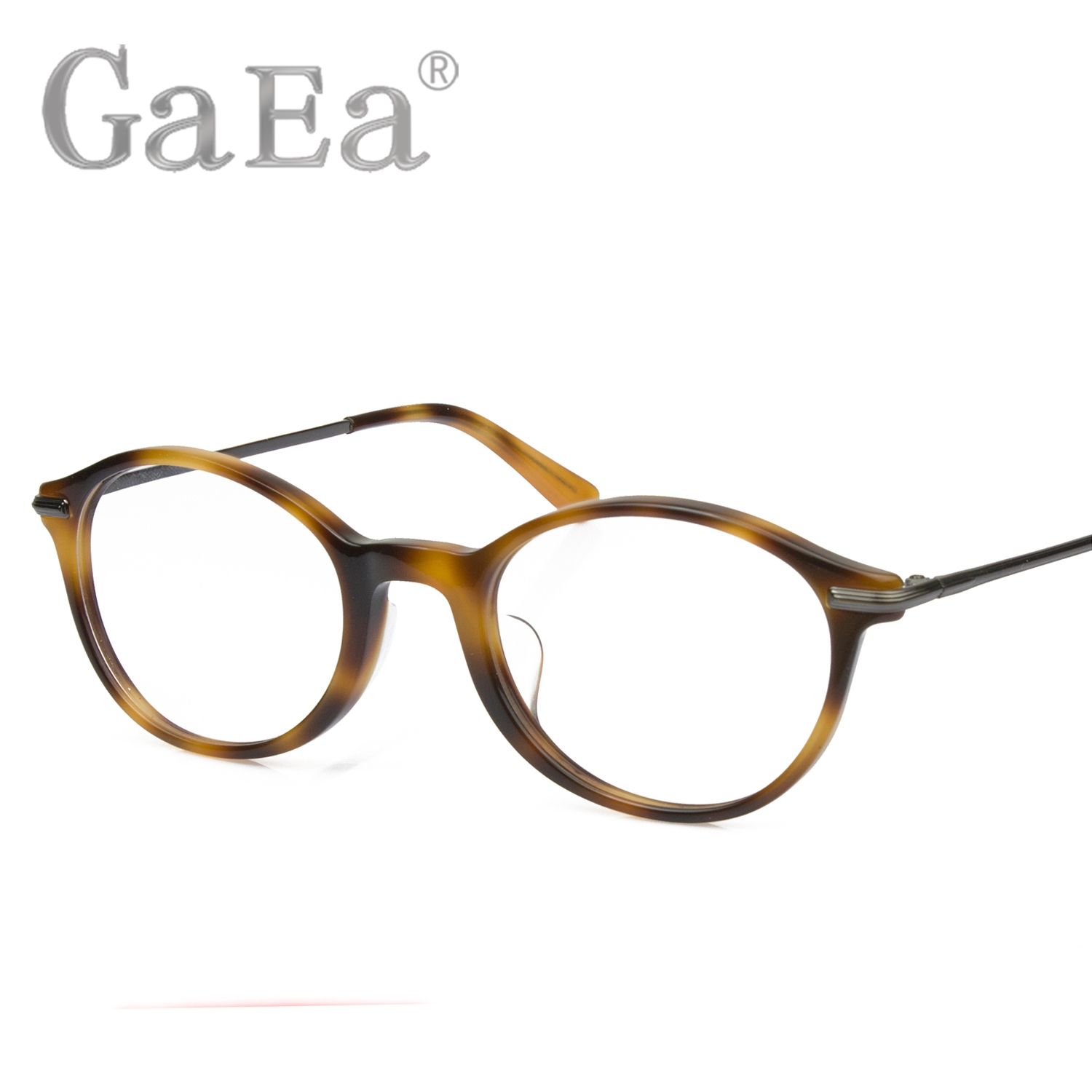 1fae530bb58 Get Quotations · Gaea 5307 retro circular plate light plate frames male myopia  glasses frame metal leg frame glasses