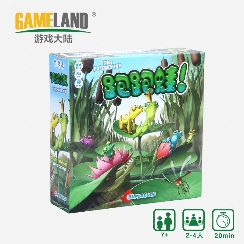 Game continent genuine board games kart frog bilingual version of the joy of gathering desktop puzzle game