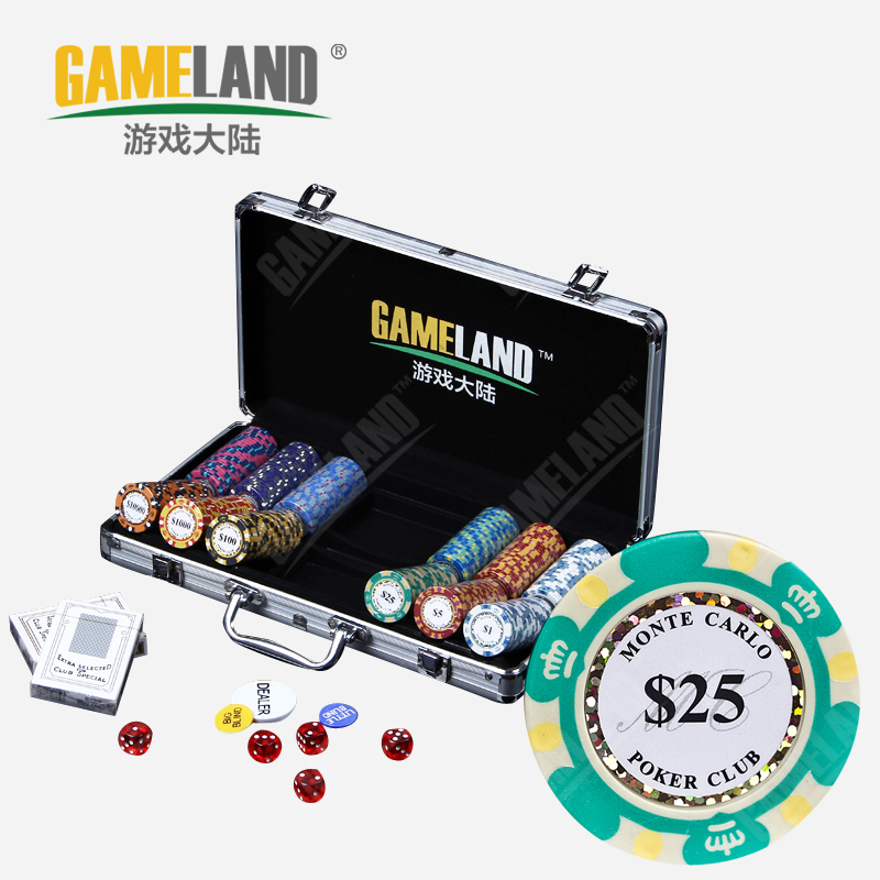 Game mainland crown 200300500 14 grams of clay chips texas poker chips suit mahjong chips suit