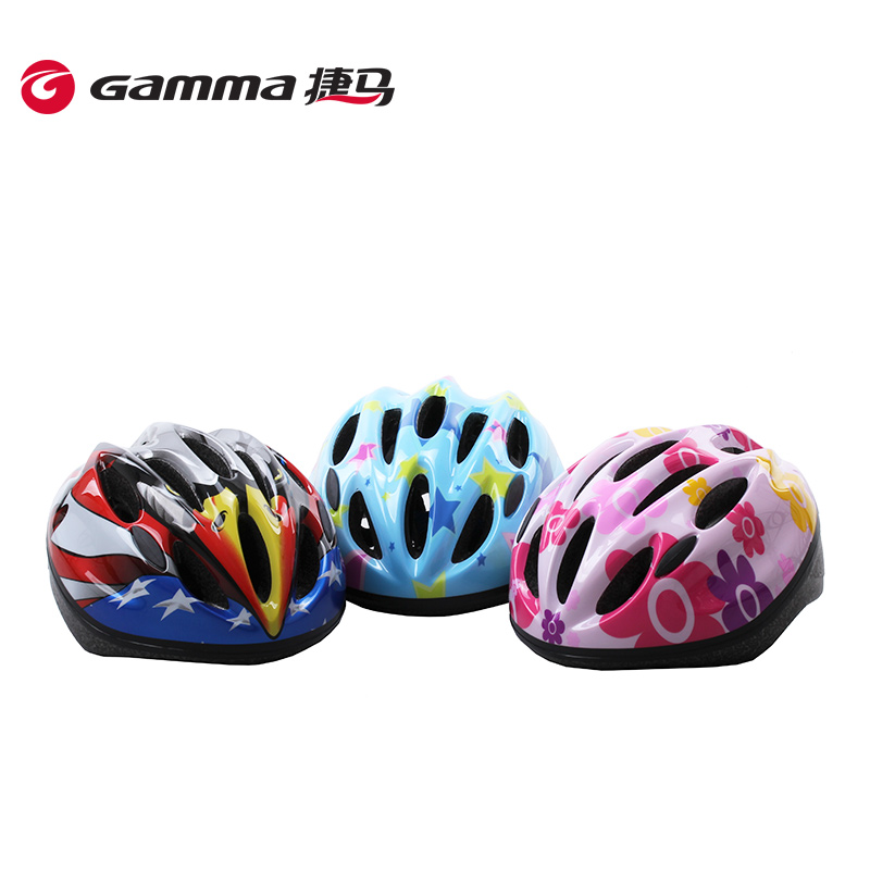 Gamma/jie ma accessories children of non one helmet beanie baby stroller bike riding bicycle safety helmet