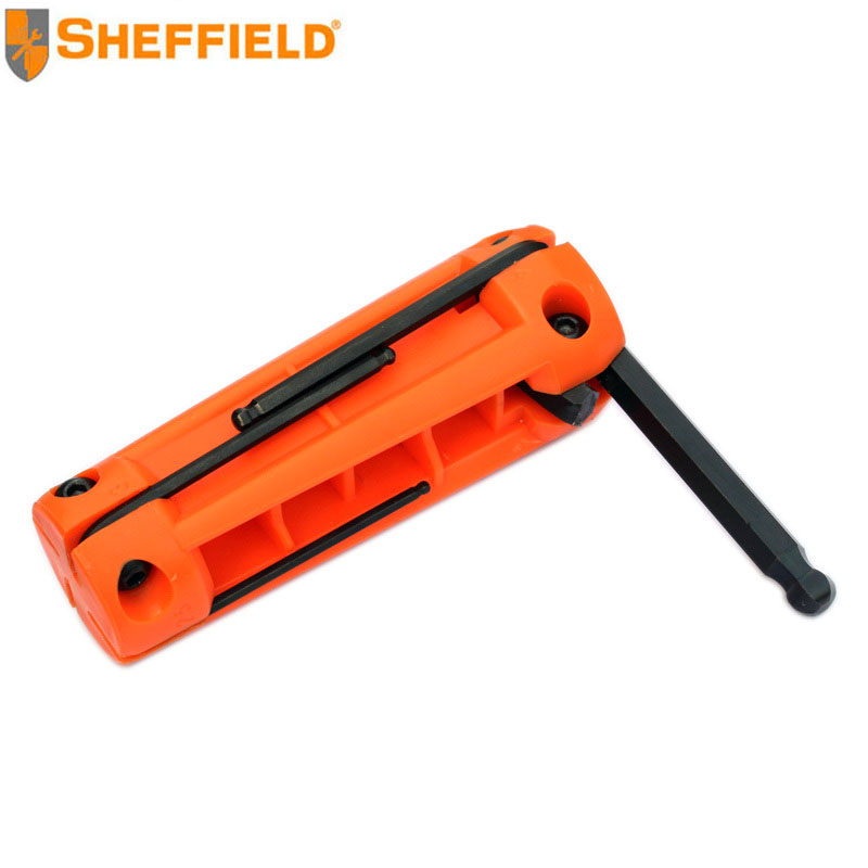 Gangdun hardware maintenance tools 8 sets of folding metric flat head hex wrench flower S050020