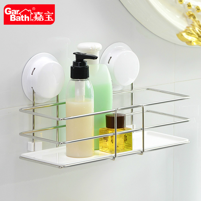 Garbo sucker bathroom shelving racks creative home kitchen bathroom shelving racks stainless steel storage rack