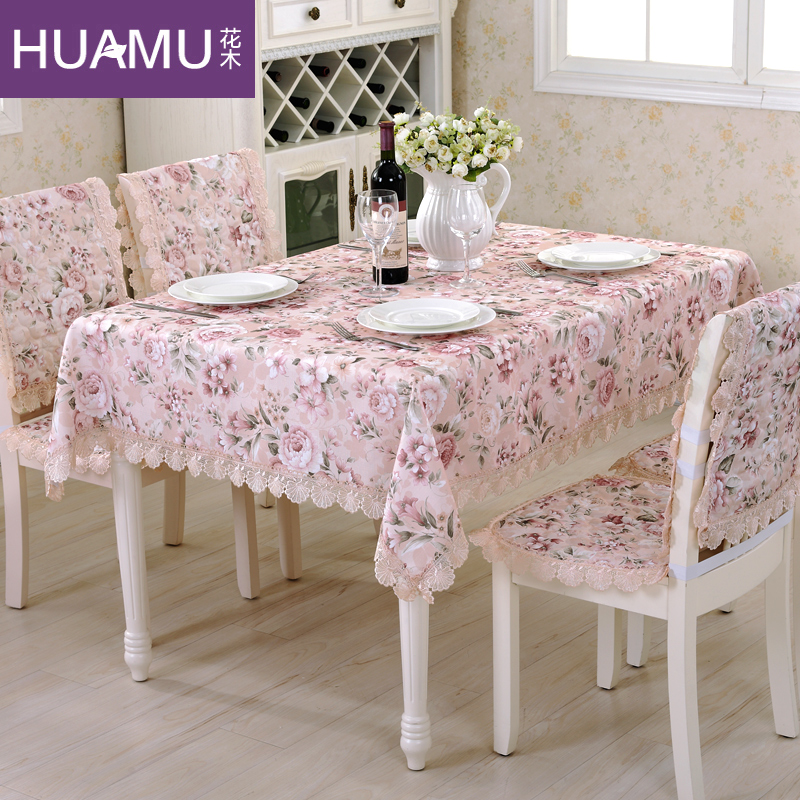 Garden flowers garden floral fabric cover cloth tablecloths tablecloth lace table cloth chair cushion cover kit
