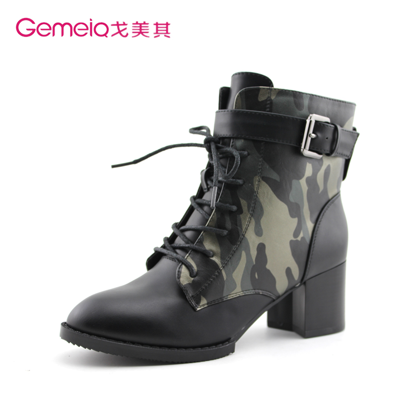 ebd143374b596 Get Quotations · Ge beauty of its 2014 new winter 1915190 european and  american camouflage boots martin boots high