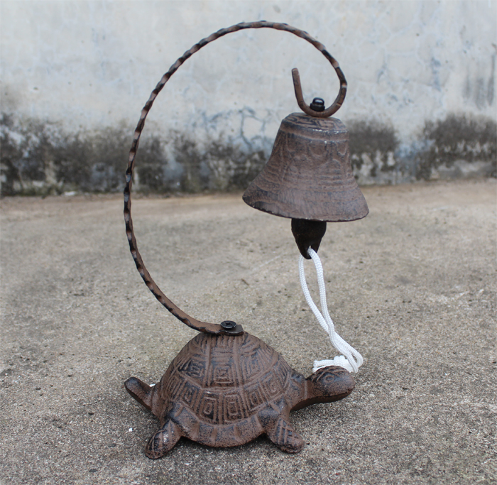 Ge jia rui erou noblemen turtle vintage cast iron bell rattle desktop bar call bells clang bell decoration