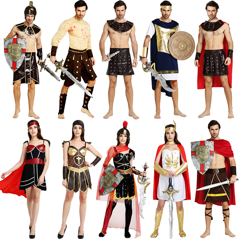 General costume halloween costume roman warrior costume adult costume adult men and women performing martial disabilities ninja clothes