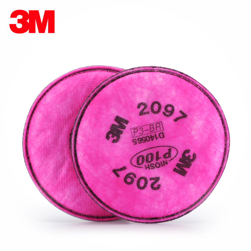 Genuine 3 m 2097 p100 efficient filter cotton anti particulate organic vapor odor filter cotton cotton dust welding