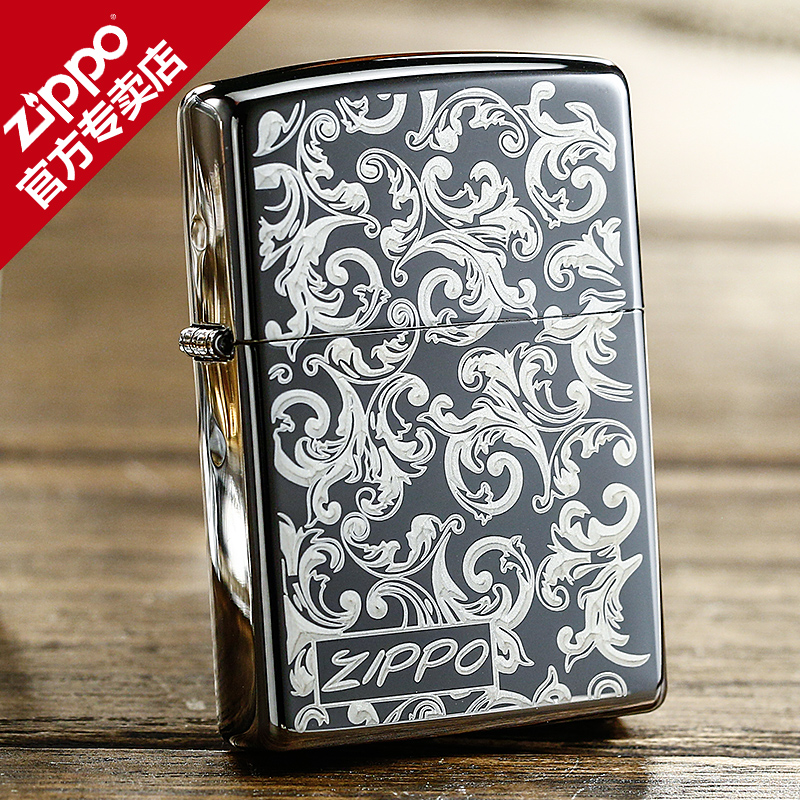 Genuine american original authentic zippo lighters zippo flagship store in the new black ice rich arabesque
