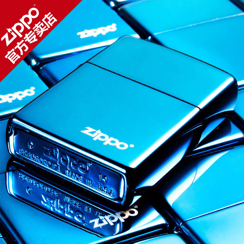 Genuine american zippo lighters genuine original blue ice zippo trademark logo men's windproof lighter