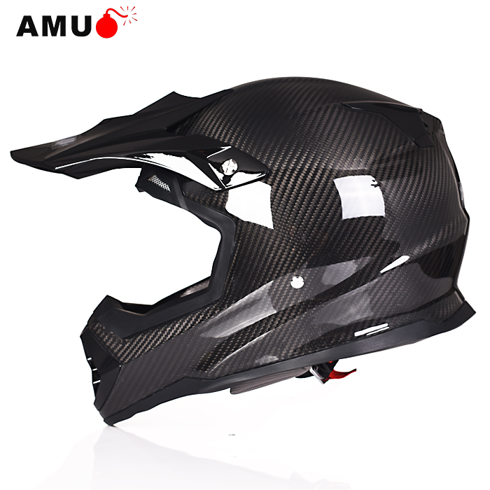 Genuine amu motocross helmet professional seasons upscale carbon fiber racing helmet motorcycle helmet knight security q5