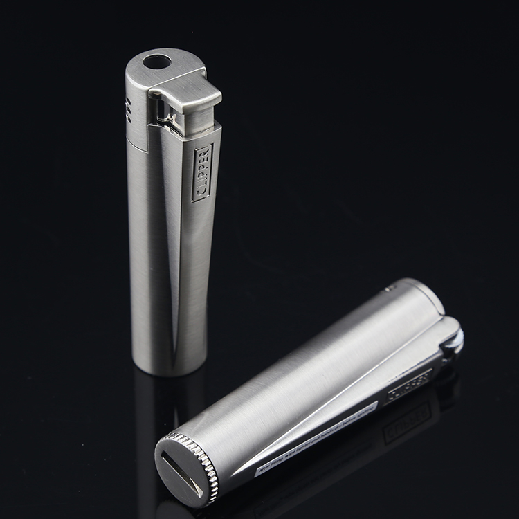 Genuine clipper can lifestyle refillable lighters creative personality straight windproof lighter pulse gas