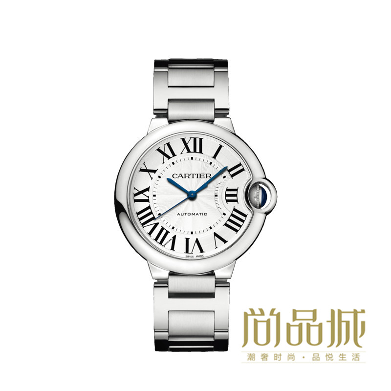 Genuine direct mail 2016 new blue balloon cartier cartier couple watches steel watch w6920046