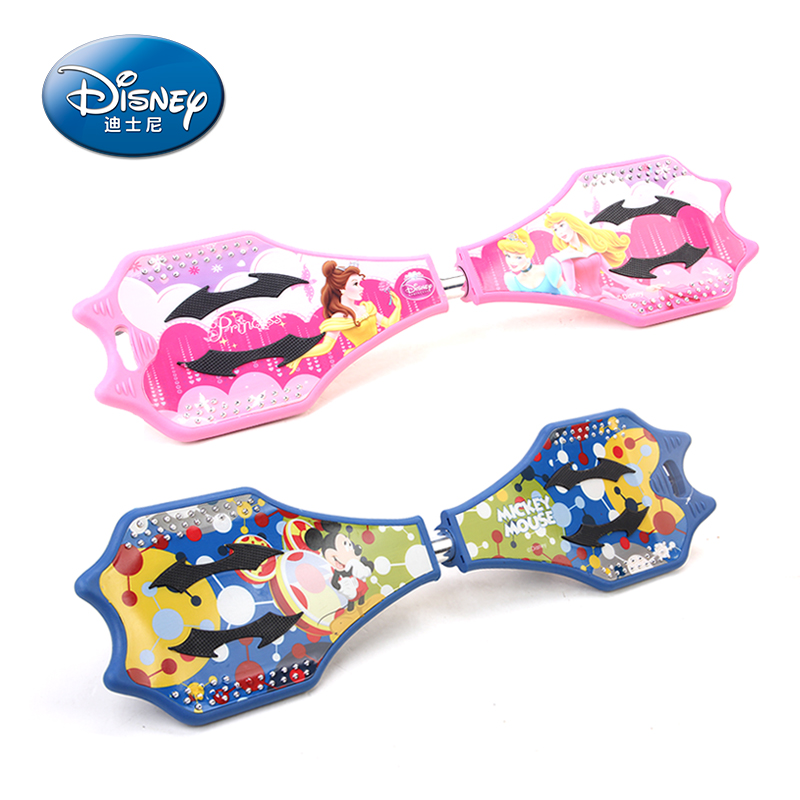 Genuine disney children skateboard long board snake board skateboard two adult children scooters 2 round of the second round of the flash