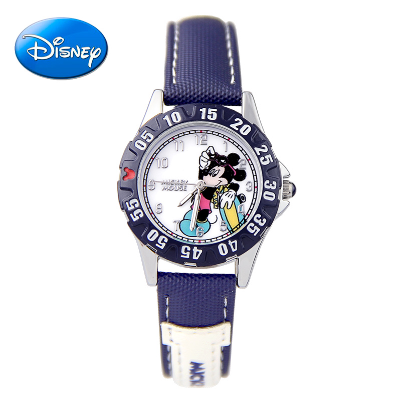 Genuine disney children watch boy boy pupils waterproof leather belt quartz watch casual cute disney