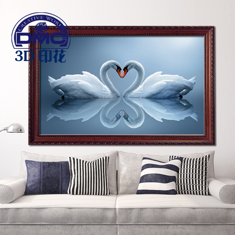 Genuine dmc cross stitch cross stitch new 3d printing precise stitch painting living room bedroom szx soulmate swan lake
