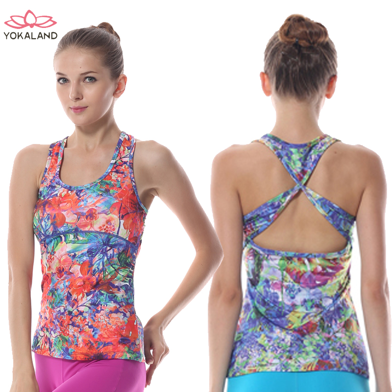 Genuine eukanuba lotus yoga clothes coat new ms. printing slim workout clothes even more clothing vest rtw008