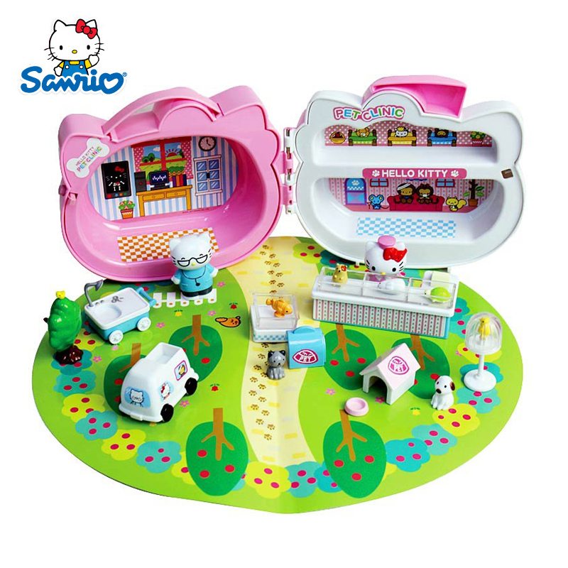 6e212d9d7eb3 Get Quotations · Genuine hello kitty hello kitty pet hospital simulation play  house toys suit girl child