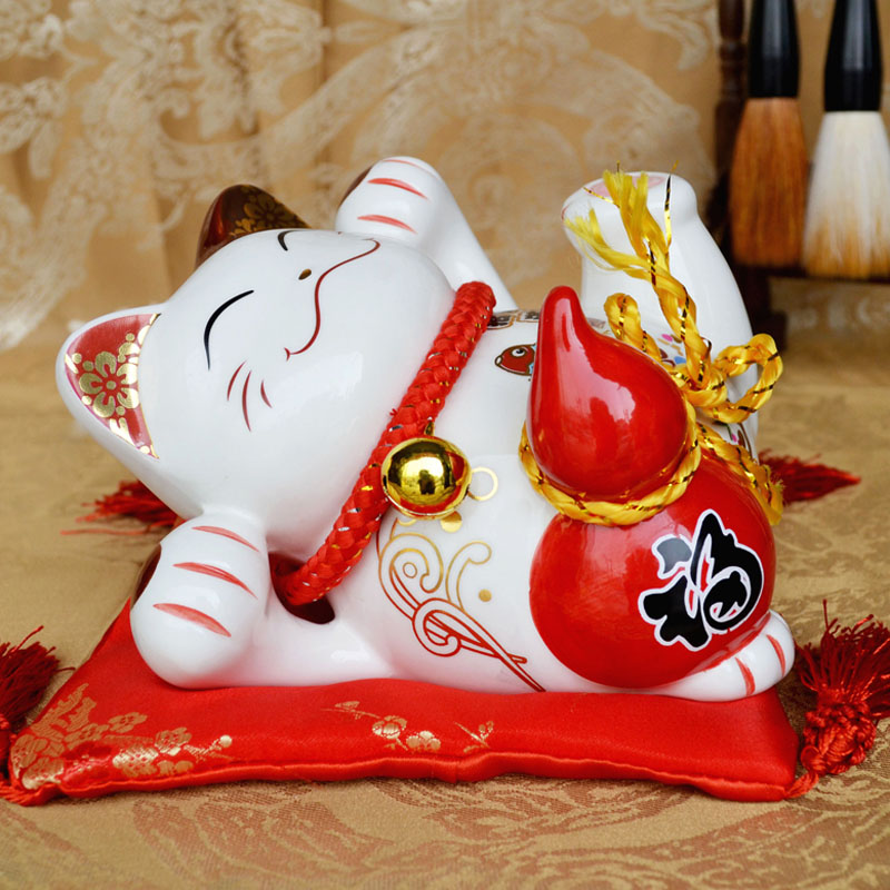 Genuine japanese lucky cat ceramic ornaments large piggy bank opened lucky cat piggy bank creative gifts furnishings