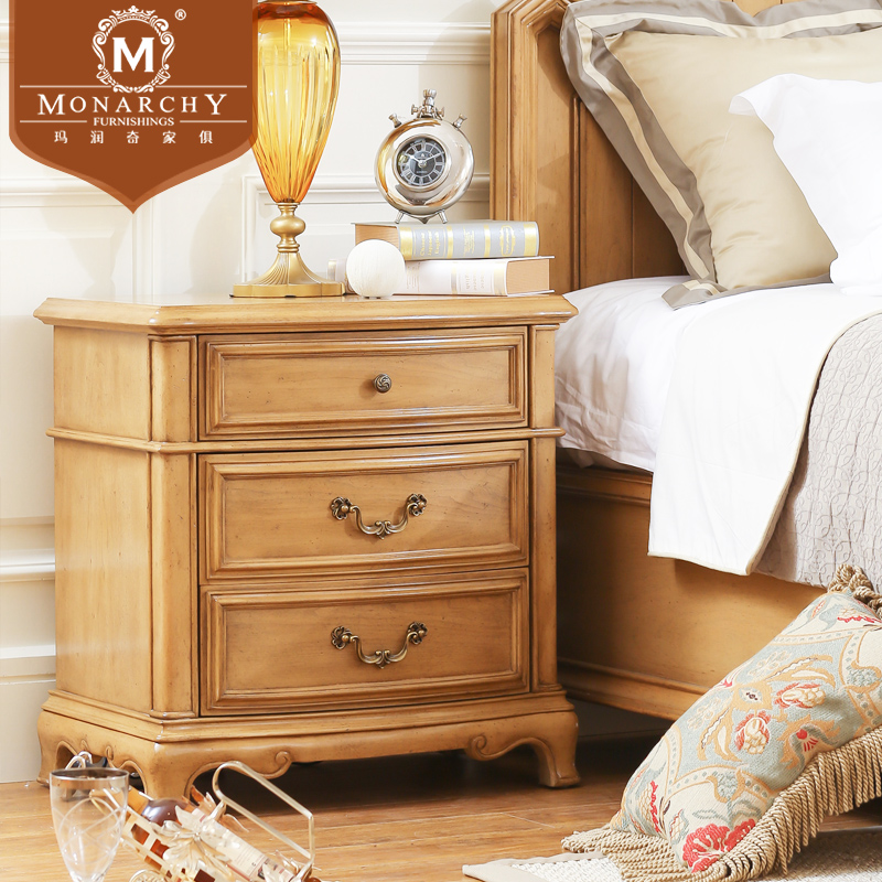 Beau Get Quotations · Genuine Jianmei Monarchy Furniture Wood Bedroom Furniture  Bedside Cabinet Lockers American Birch Large American To Do