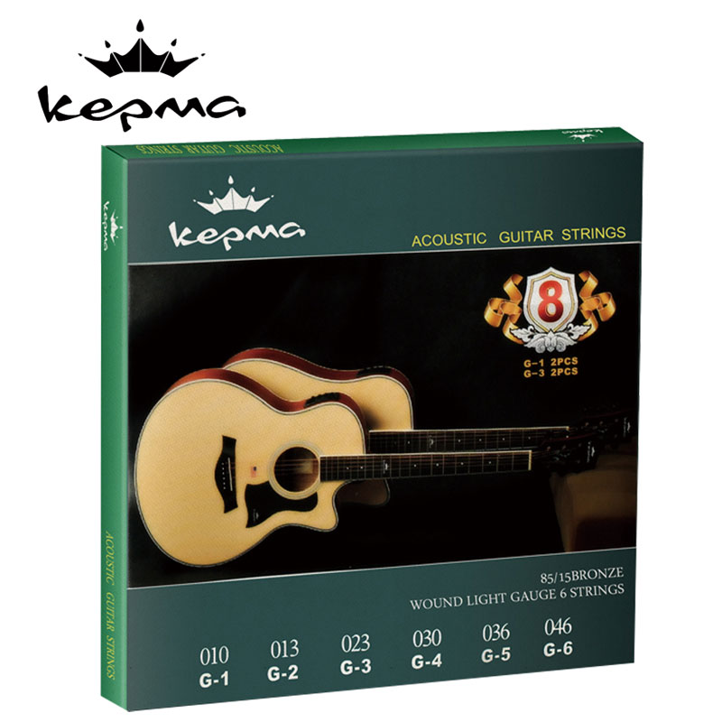 Genuine kama ji he kepma strings carobronze yellow original guitar strings acoustic guitar strings sets of strings steel strings